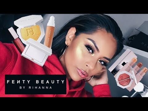 FENTY BEAUTY by Rihanna Makeup Review & Makeup Tutorial   Sarahy Delarosa