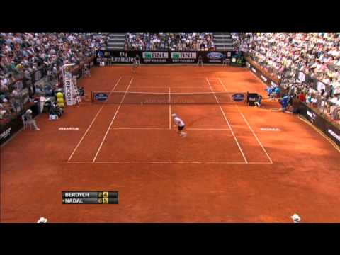 Berdych's Hot Shot Backhand vs. Nadal In Rome