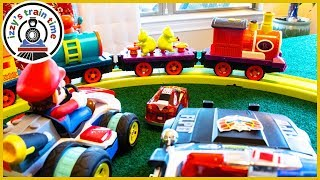 THE CRITTER EXPRESS! Fun Toy Trains and Toy Cars for Kids!