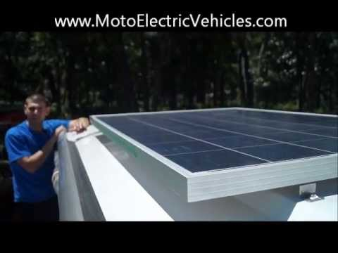 Electric Cart Solar Panel | 205w Solar Panel From Moto Electric Vehicles