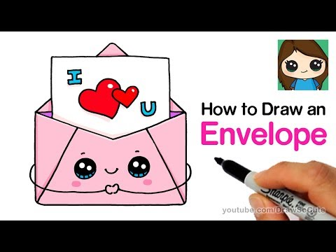 How to Draw a Love Letter in a Cute Envelope Easy