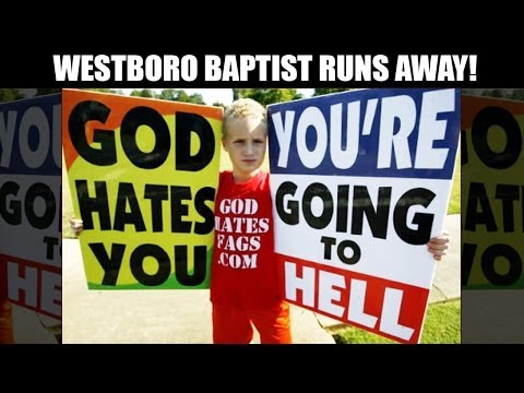 Westboro Baptist Church Run Out Of Town!