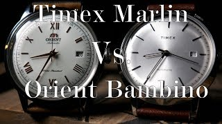 Timex Marlin Automatic Vs. Orient Bambino (TW2T22700ZV Vs. AC00008W0)