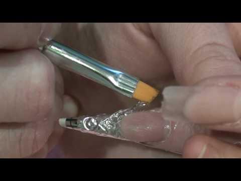 хрустальный дизайн ногтей:
