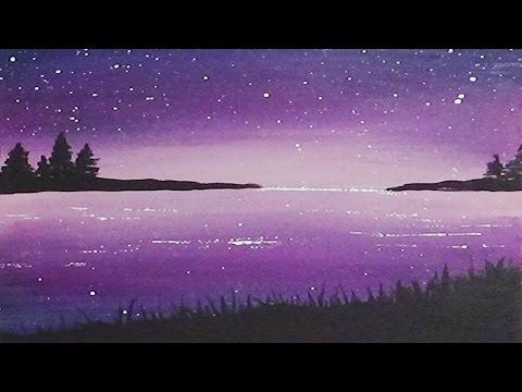 Underwater Silhouette Painting Acrylic Silhouette Painting