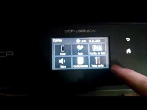 Como Resetar Brother L5652 - Reset mensagem substitua o toner