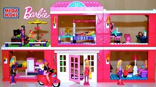 Mega Bloks Barbie Build N Style Fab Mansion with lots Barbie Dolls   TheChildhoodLife