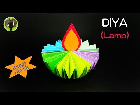 Diya - Lamp for Diwali Decoration  - DIY | Tutorial by Paper Folds - 813