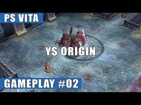 Ys Origin PS Vita Gameplay #2 (Exploring the Tower, Vagullion Boss Fight) - Yunica