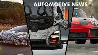 Automotive news#1  New mclaren GT,Mclaren senna lego stucture and porsche 911 gt2rs new lap record.