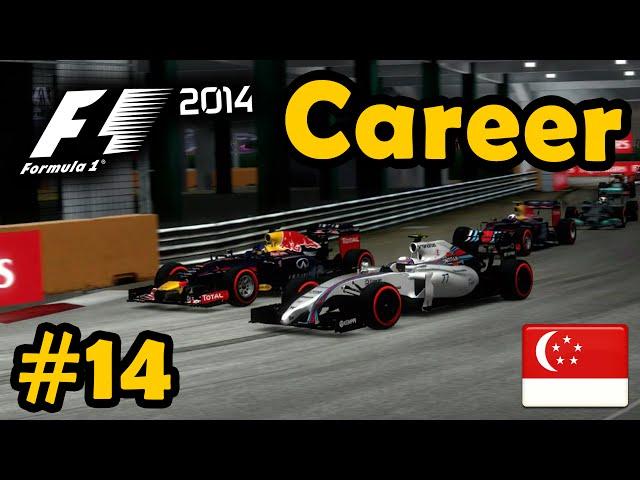 F1 2014 Career Mode Part 14: Singapore Grand Prix (Legend AI)