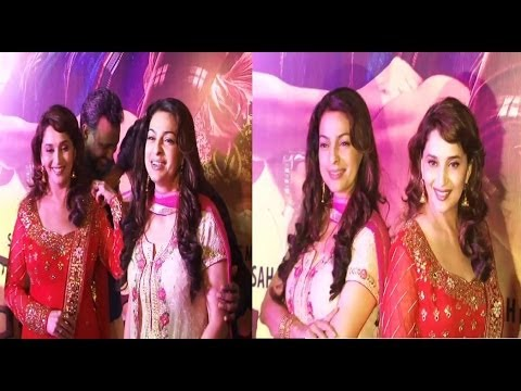 Madhuri Dixt and Juhi Chawla TOGETHER @ PREMIERE of GULAAB GANG.
