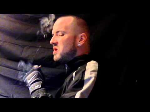 Gloved smoking and spit swallow 5