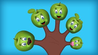 The Finger Family Apple Family Nursery Rhyme | Apple Finger Family Songs