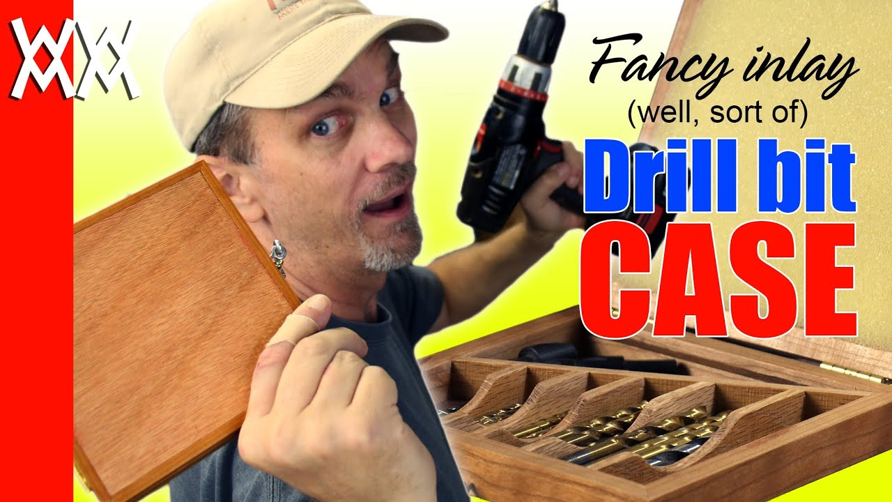 Make a drill bit storage case. Organize your wood shop with this fun project. - YouTube