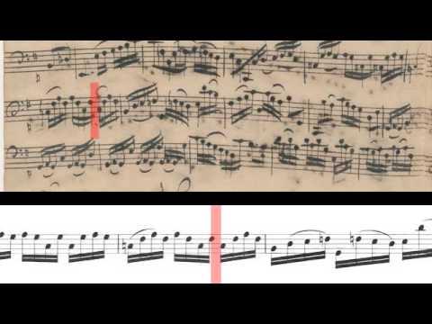 BWV 1007  Cello Suite No1 Scrolling