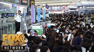 Hong Kong markets taking a hit from protests