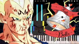 Vegeta's Theme - Hells Bells / Dragon Ball Z OST (Piano Tutorial) [Synthesia] Orchestral Remix