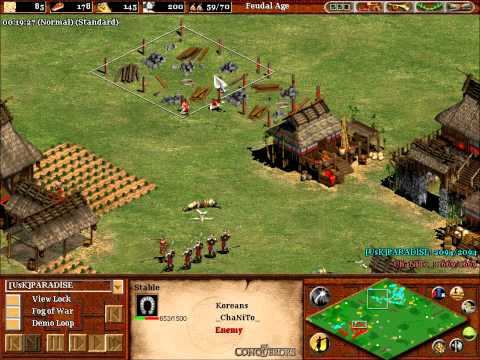 Age of Empires 2 Gameplay Commentary - Chanito vs Parad1se (Part 2)