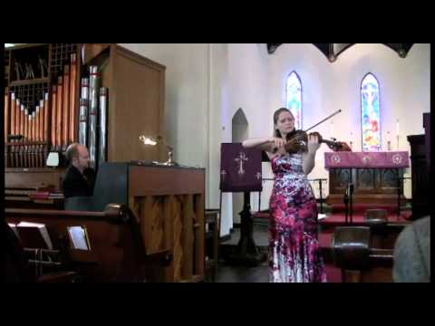 Barber: Violin Concerto II. Andante performed by Caeli Smith and Tim Ribchester