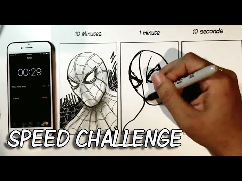 VIRAL SPIDERMAN 10 Min 1 Min 10 Sec SPEED CHALLENGE