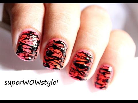 Spun Sugar Nails ✦ No Tools! ✦ Toothpick Nail Art Designs How To Do (Prachi Agarwal Nail Art)