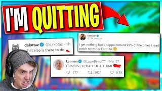 Pros are Threatening to QUIT Fortnite... Daequan and Lazarbeam Cant Believe Epic