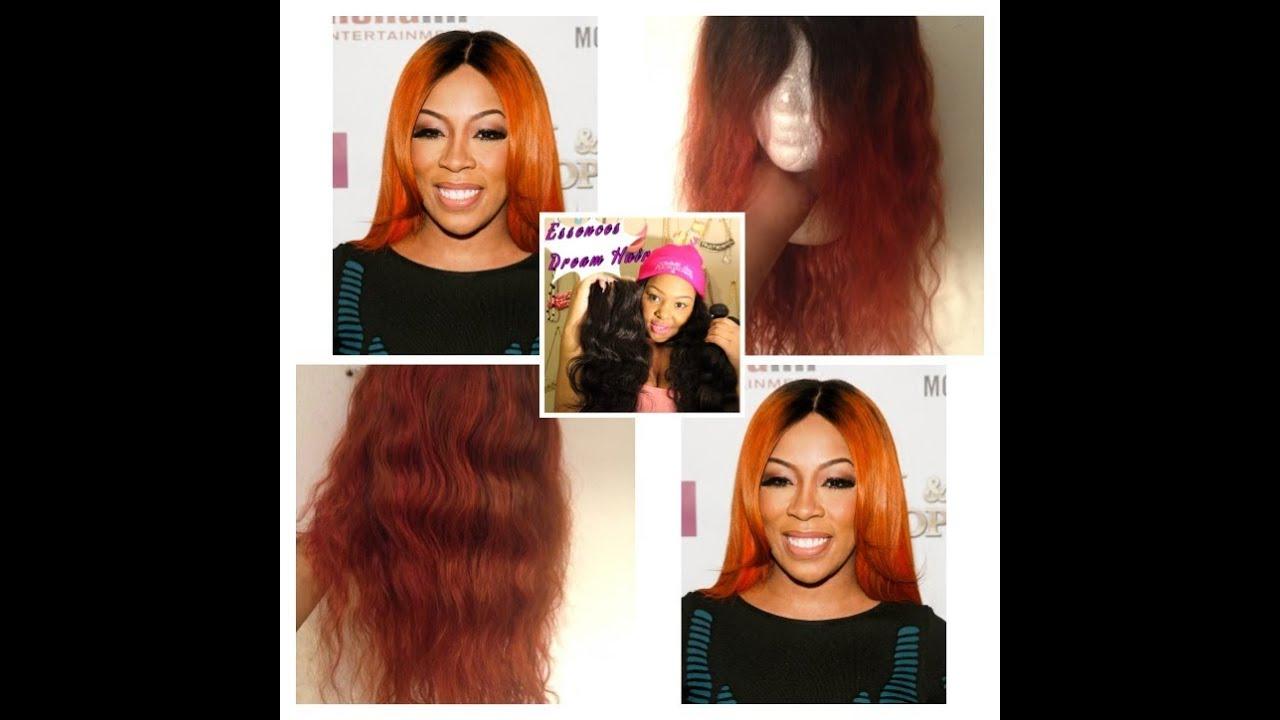 K Michelle Burnt Orange Inspired Hair Color Tutorial