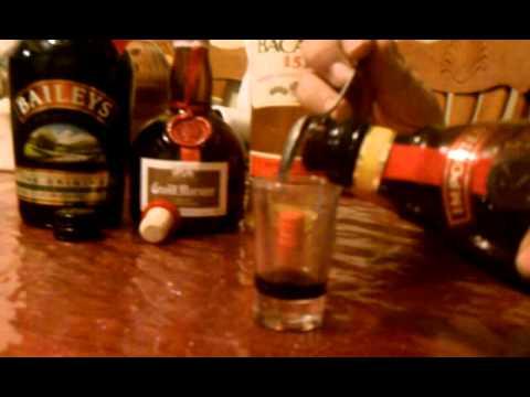 Receta de bebida para navidad, B52 Flamming Shot