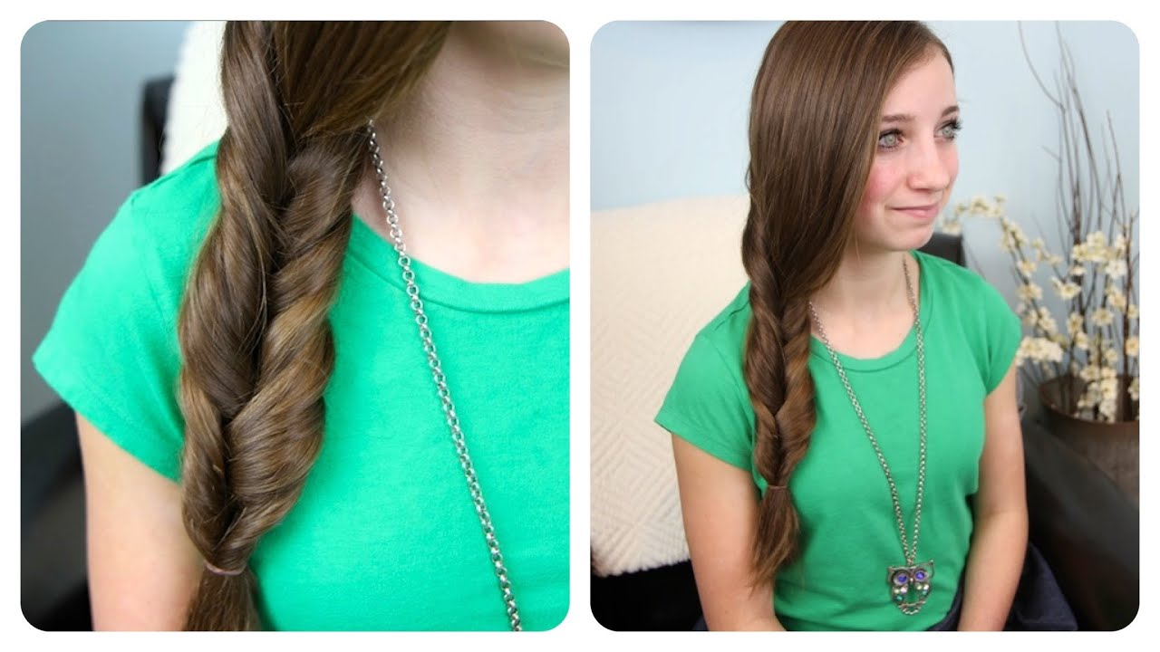 2 Minute Faux Fishtail Braid Cute Girls Hairstyles Youtube
