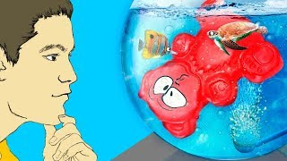 WHY DID JELLY GUMMY BEAR GET INTO THE AQUARIUM? THE NEW ADVENTURES