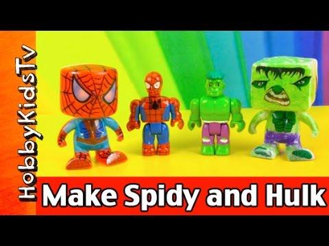 Make Vinyl Spider-Man and Hulk Markers RoseArt Color Blanks Marvel HobbyKidsTV #HKTV