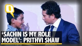 'Sachin is my role model' Says India's 17-year-old cricketer Prithvi Shaw  | The Quint
