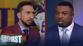Vikings Cousins won't do well vs Saints, Eagles will play Seahawks close | NFL | FIRST THINGS FIRST