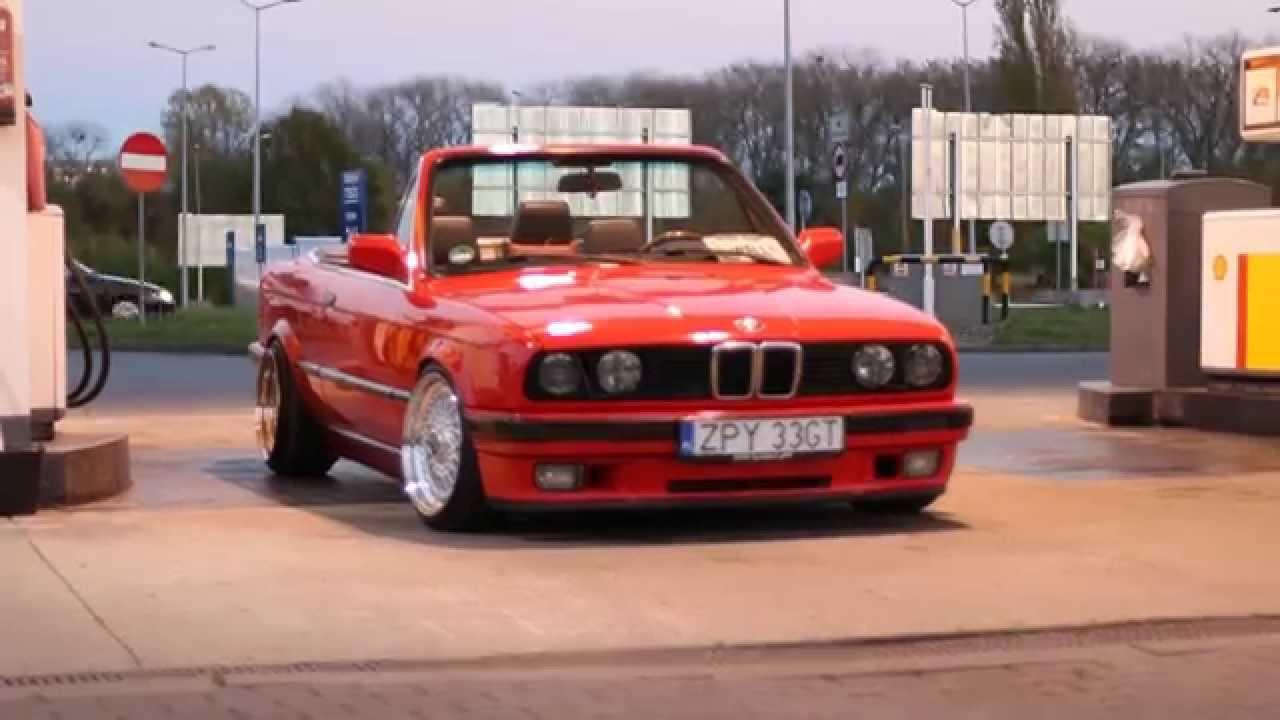 Bmw Red E30 Cabrio 325i M50b25 Youtube