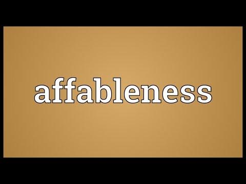 Header of affableness
