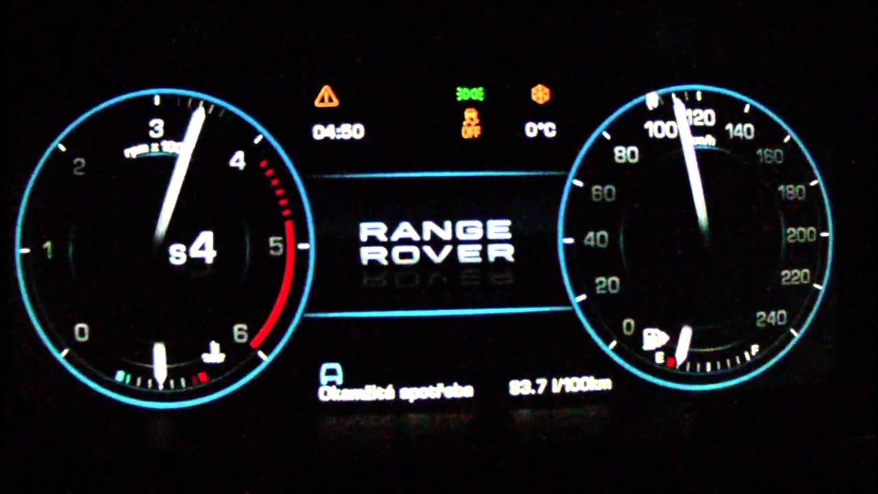 Range Rover 2013 Sdv8 Acceleration 0 210 Km H Youtube