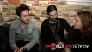 Jared Leto : 30 SECONDS TO MARS INTERVIEW BY JARED SAGAL ( ROCKERRAZZI.com)