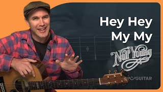 How to play Hey Hey, My My by Neil Young (Guitar Lesson ST-907)