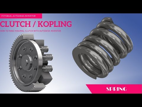 [HOW TO MAKE] SPRING WITH COMPRESSION SPRING COMPONENT GENERATOR AUTODESK INVENTOR PART 7