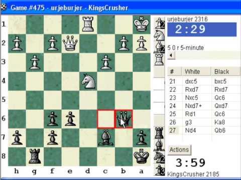 Chessworld.net : Blitz #247 vs. urjeburjer (2316) - French Defense : Burn variation (C11)