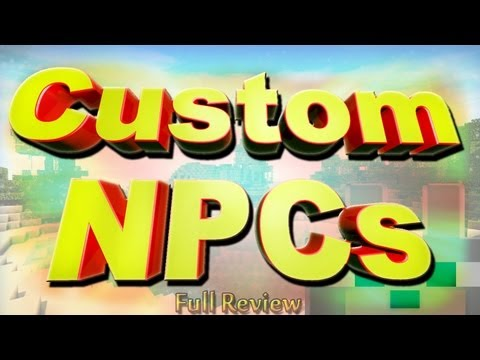 SCMowns - Custom NPCs 1.5.1 Minecraft Full Review and Tutorial (Client and Server) 400th Video!