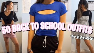 50 BACK TO SCHOOL OUTFIT IDEAS *for all dresscodes*
