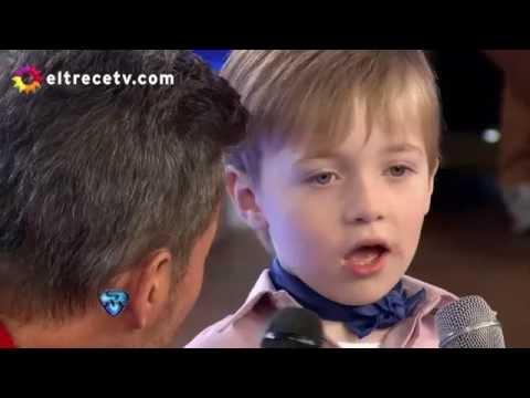 Mateo, el nene que hizo llorar de risa a Marcelo Tinelli