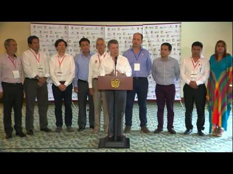 Declaración del Presidente Juan Manuel Santos en la XI Cumbre de Ciudades Capitales, Ibagué