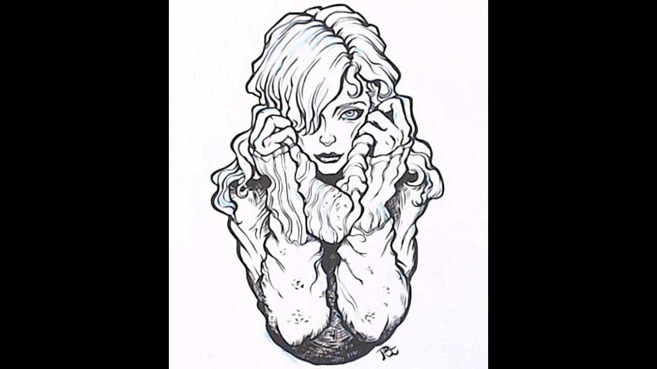 Comment encrer ses dessins apprendre a dessiner avec de l 39 encre de chine youtube - Chouette a dessiner ...