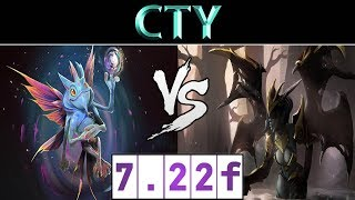 CTY [Puck] vs [Queen of Pain] ► CN Ranked ► Dota 2 7.22f