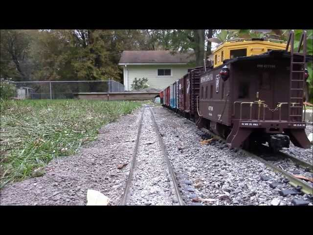 G scale train cab ride around the garden railroad 10/26/13