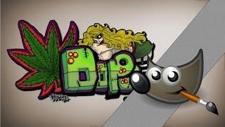 How to make graffiti? Gimp tutorial