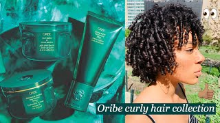 NEW Oribe curly hair collection | Wash N Go style on type 3 curls